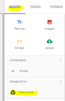 add pdf to google sites