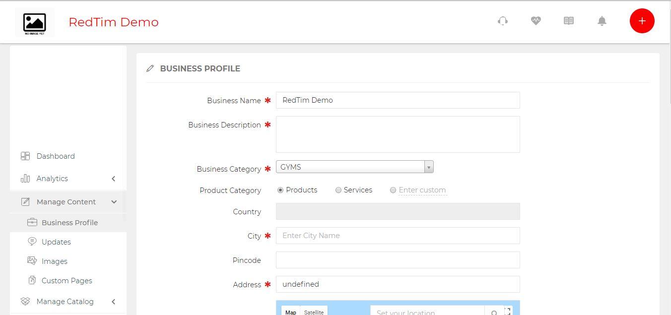 redtim business profile