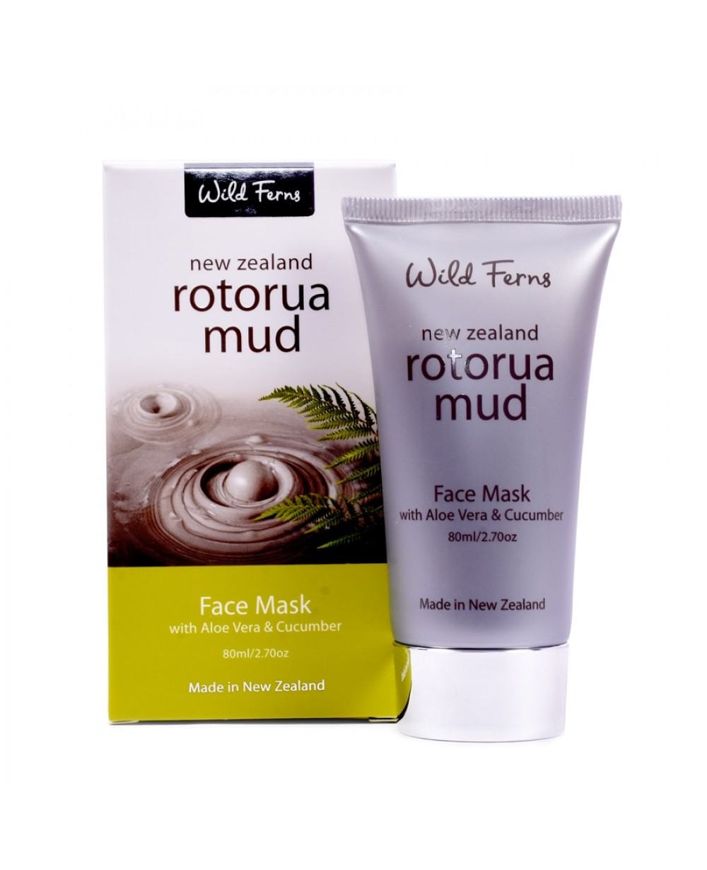 WILD FERNS ROTORUA MUD MASK ALOE VERA & CUCUMBER 80 ML