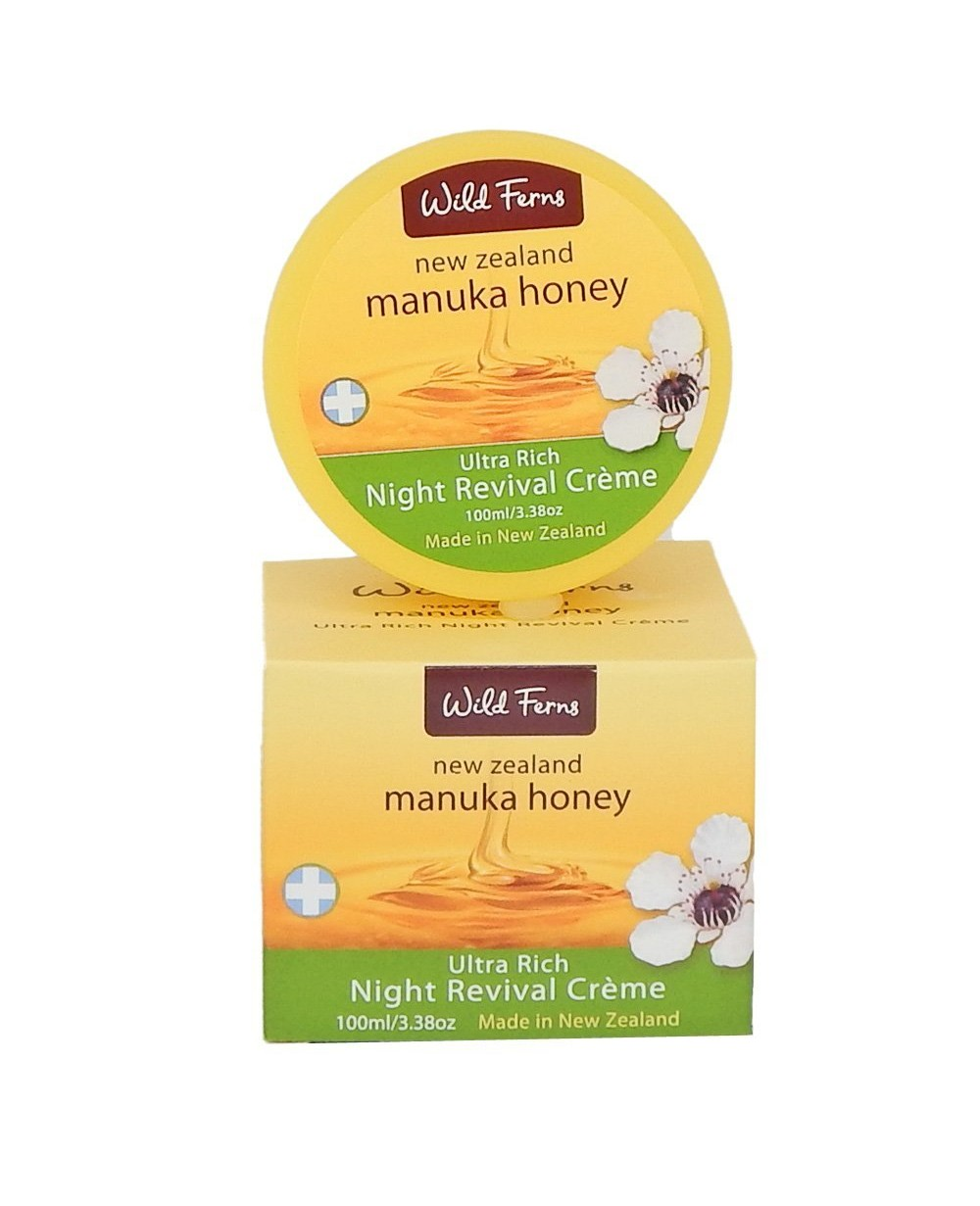 WILD FERNS MANUKA HONEY ULTRA RICH NIGHT REVIVAL CREME, 100ML