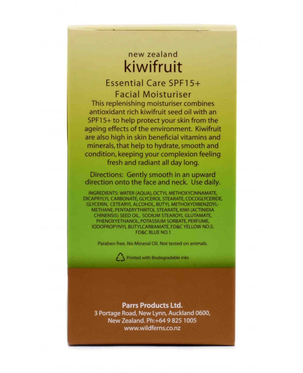 WILD FERNS KIWIFRUIT FACIAL MOISTURISER WITH SPF 15+ 75 ML