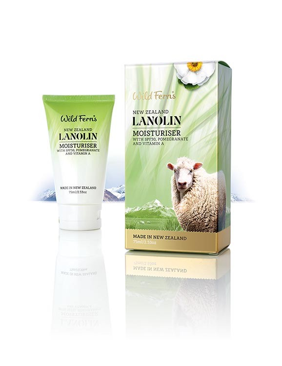 WILD FERNS LANOLIN WITH MOISTURISER SPF30 WITH POMEGRANATE & VITAMIN A 75 ML