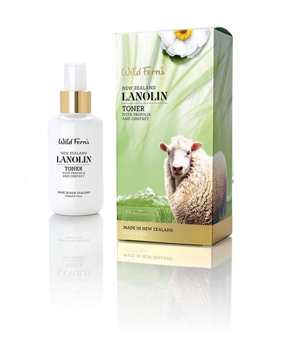 WILD FERNS LANOLIN TONER WITH PROPOLIS & COMFREY 140 ML