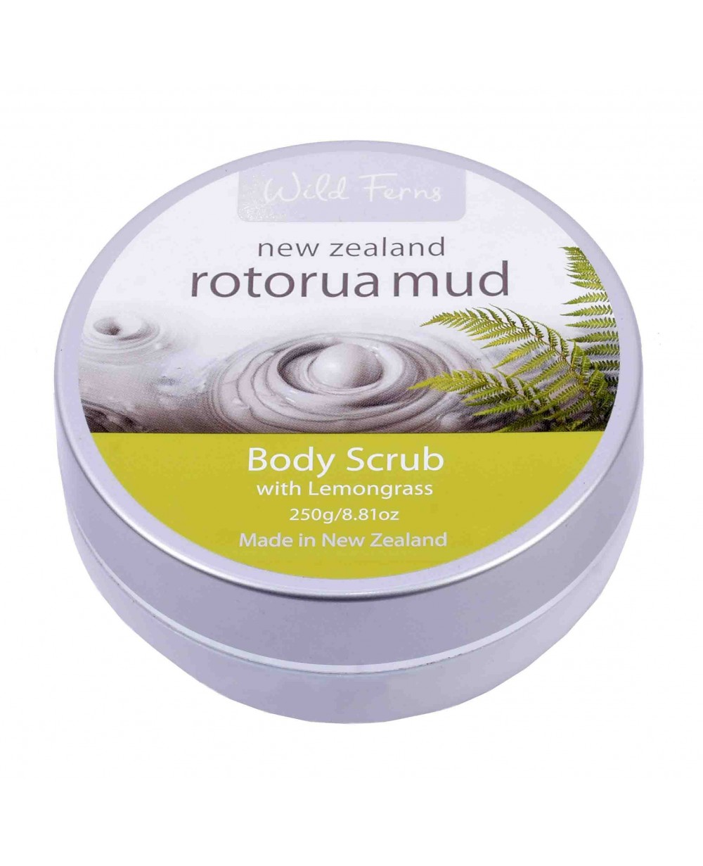 WILD FERNS ROTORUA MUD BODY SCRUB LEMONGRASS 250 GM