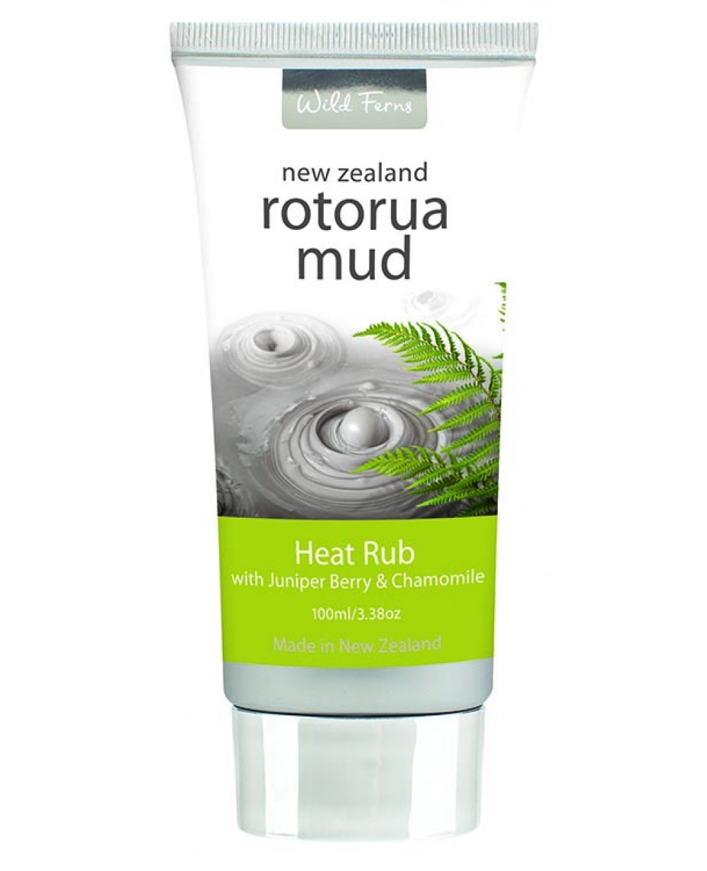 WILD FERNS ROTORUA MUD HEAT RUB & JUNIPER BERRY & CHAMOMILE 100M