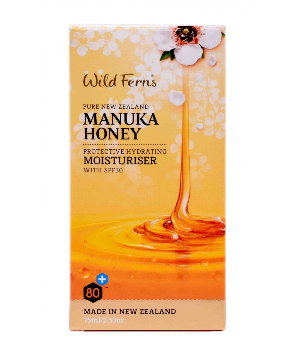 WILD FERNS MANUKA HONEY MOISTURISER WITH SPF 30, 75 ML