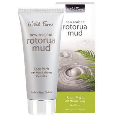 WILD FERNS ROTORUA MUD FACE PACK WITH MANUKA HONEY 95ML