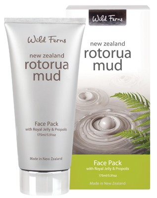 WILD FERNS ROTORUA MUD FACE PACK WITH ROYAL JELLY & PROPOLIS 175ML