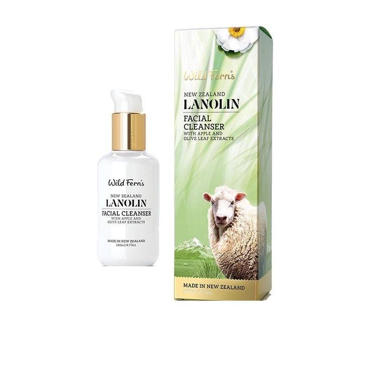 WILD FERNS LANOLIN FACIAL CLEANSER WITH APPLE & OLIVE LEAF 140ML