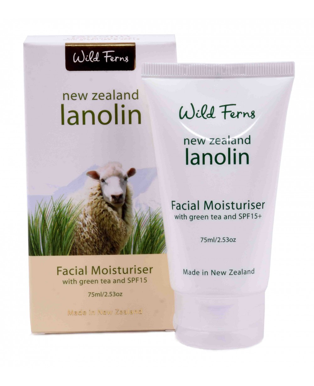 WILD FERNS LANOLIN MOISTURISER WITH SPF 15 75 ML