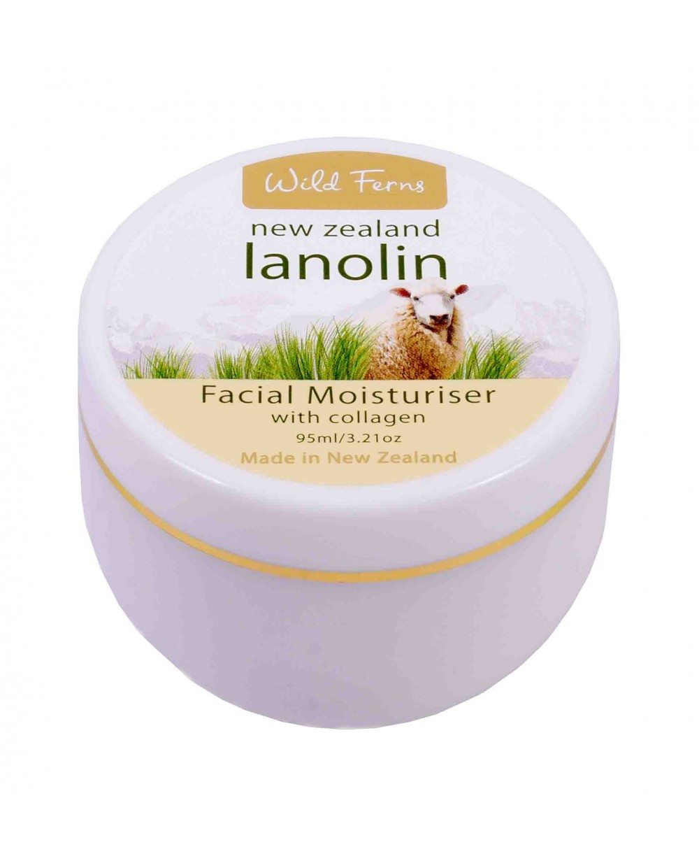 WILD FERNS LANOLIN FACIAL MOISTURISER WITH COLLAGEN (POT)