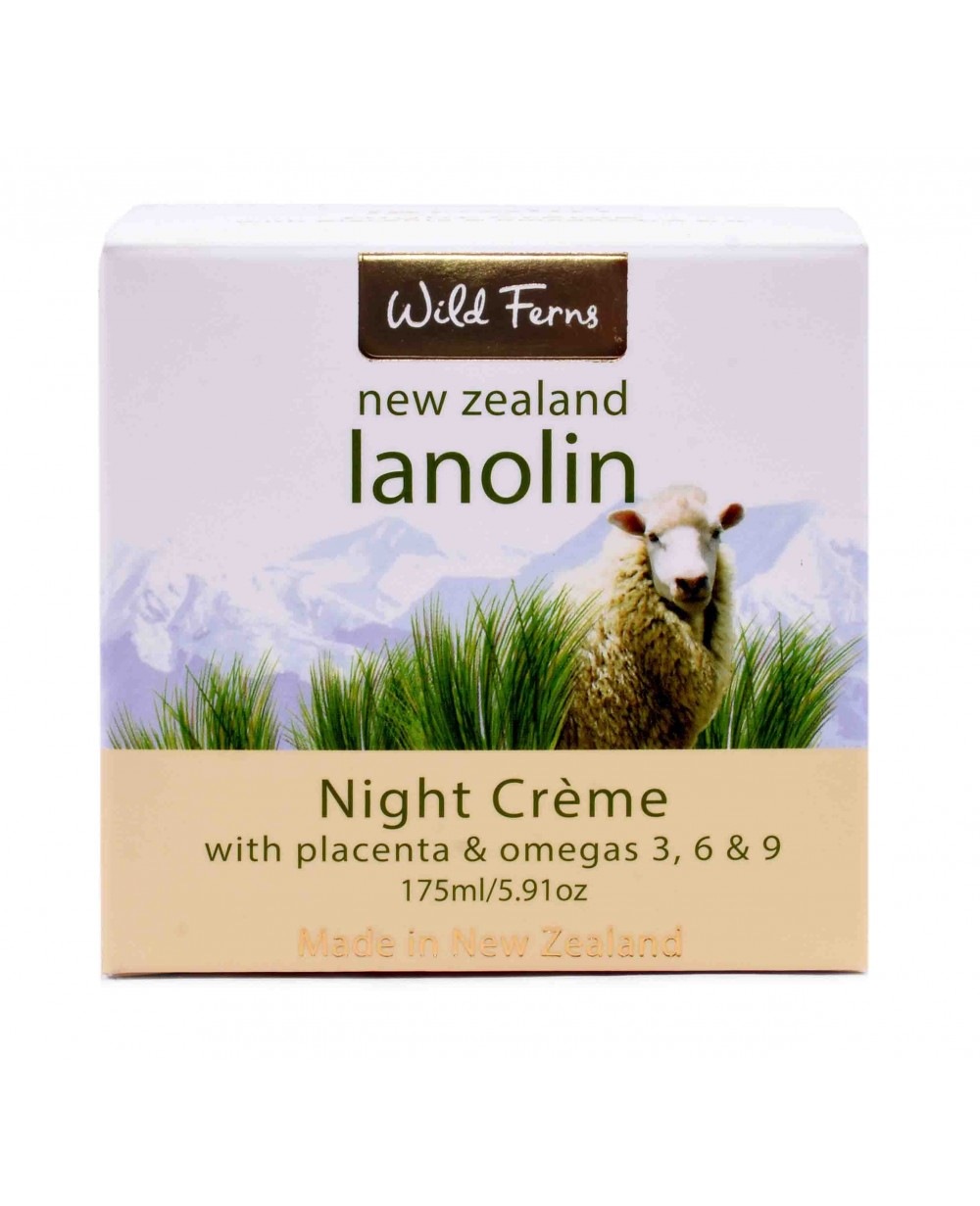 WILD FERNS LANOLIN NIGHT CREAM WITH PLACENTA & OMAGA'S 175 ML