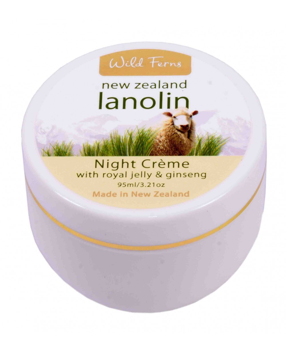 WILD FERNS LANOLIN NIGHT CREAM WITH ROYAL JELLY AND GINSENG