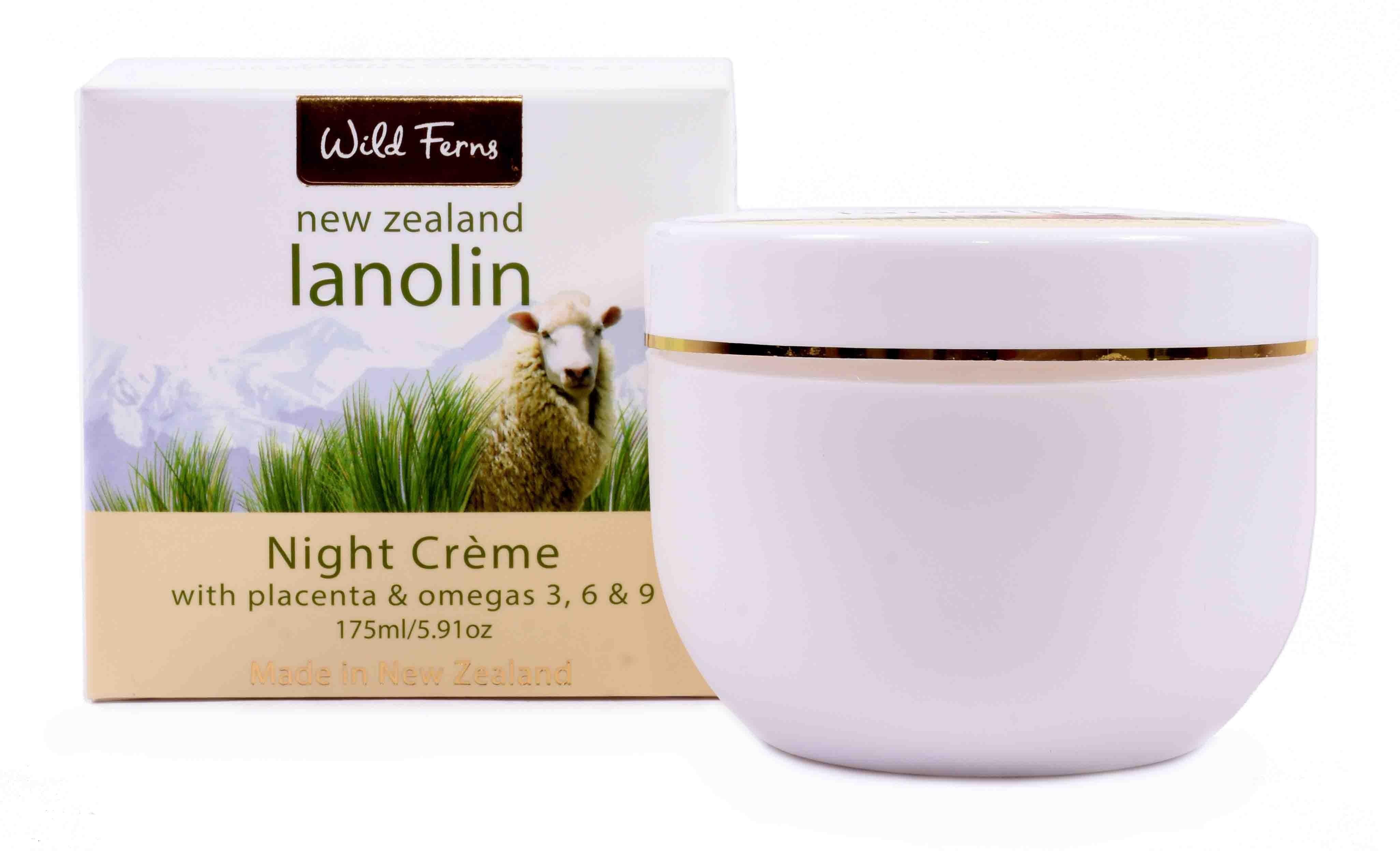 WILD FERNS LANOLIN NIGHT CREAM WITH PLACENTA & OMAGA'S 175 ML