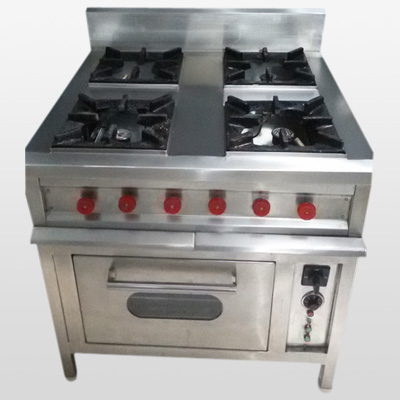 Application: Cooking Equipment, Top and Front in SS, Sides & Rear MS painted.  Std. Size: 36