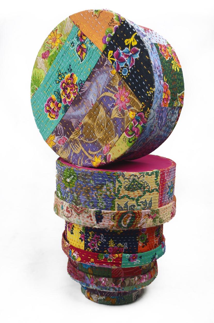 Kanta Fabric Round Box