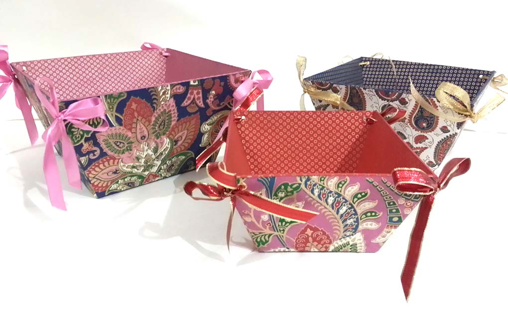 Handmade Paper Baskets