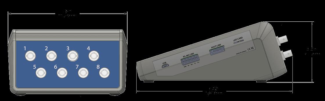 H201 Fiber Optic Temperature Monitors Product Drawing