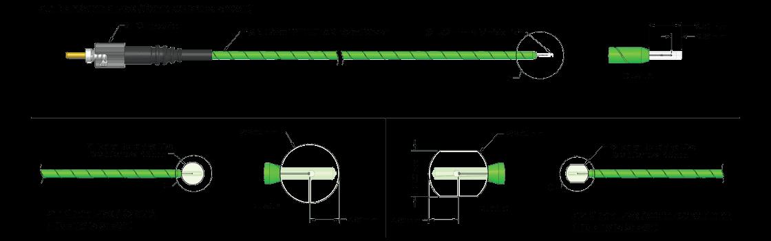 TSENS Fiber Optic Temperature Sensor Product Drawing