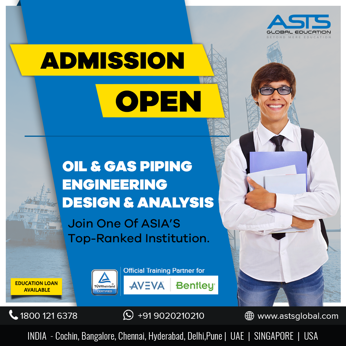 Piping Engineering Course in Cochin | ASTS Global Education India