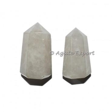 Buy now crystal quartz natural points, semi precious stone generator.
