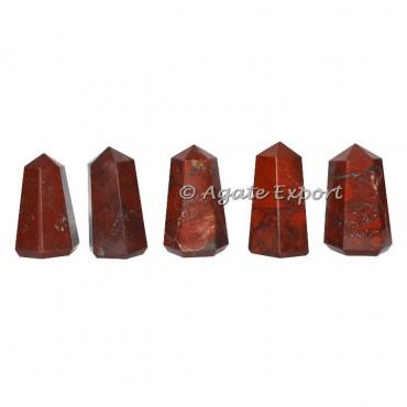 Buy now red jasper wider natural point , semi precious stone generator.