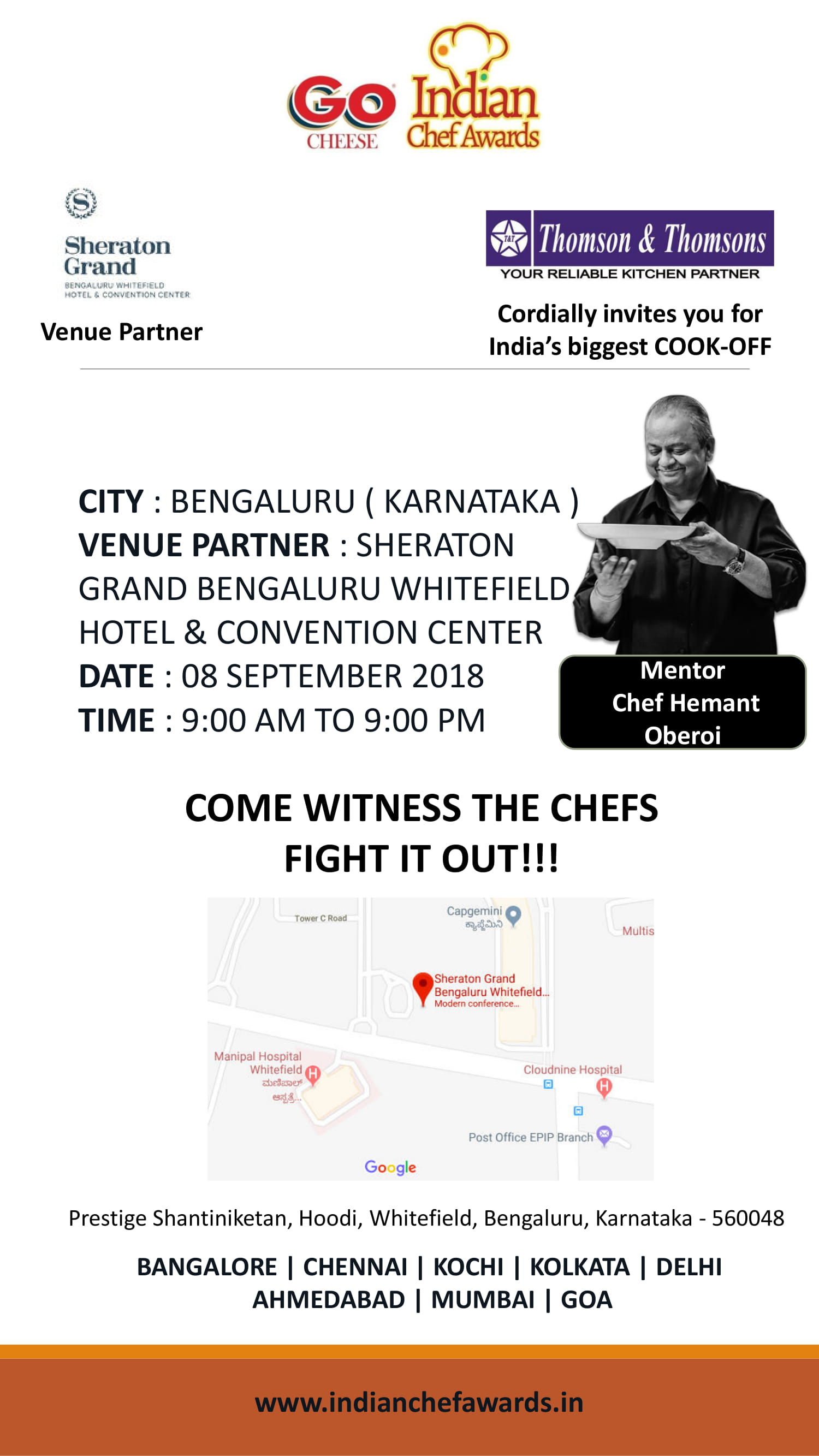 Indian Chef Awards 2018 Banglore