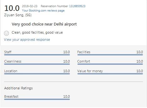 Very good choice near Delhi airport
