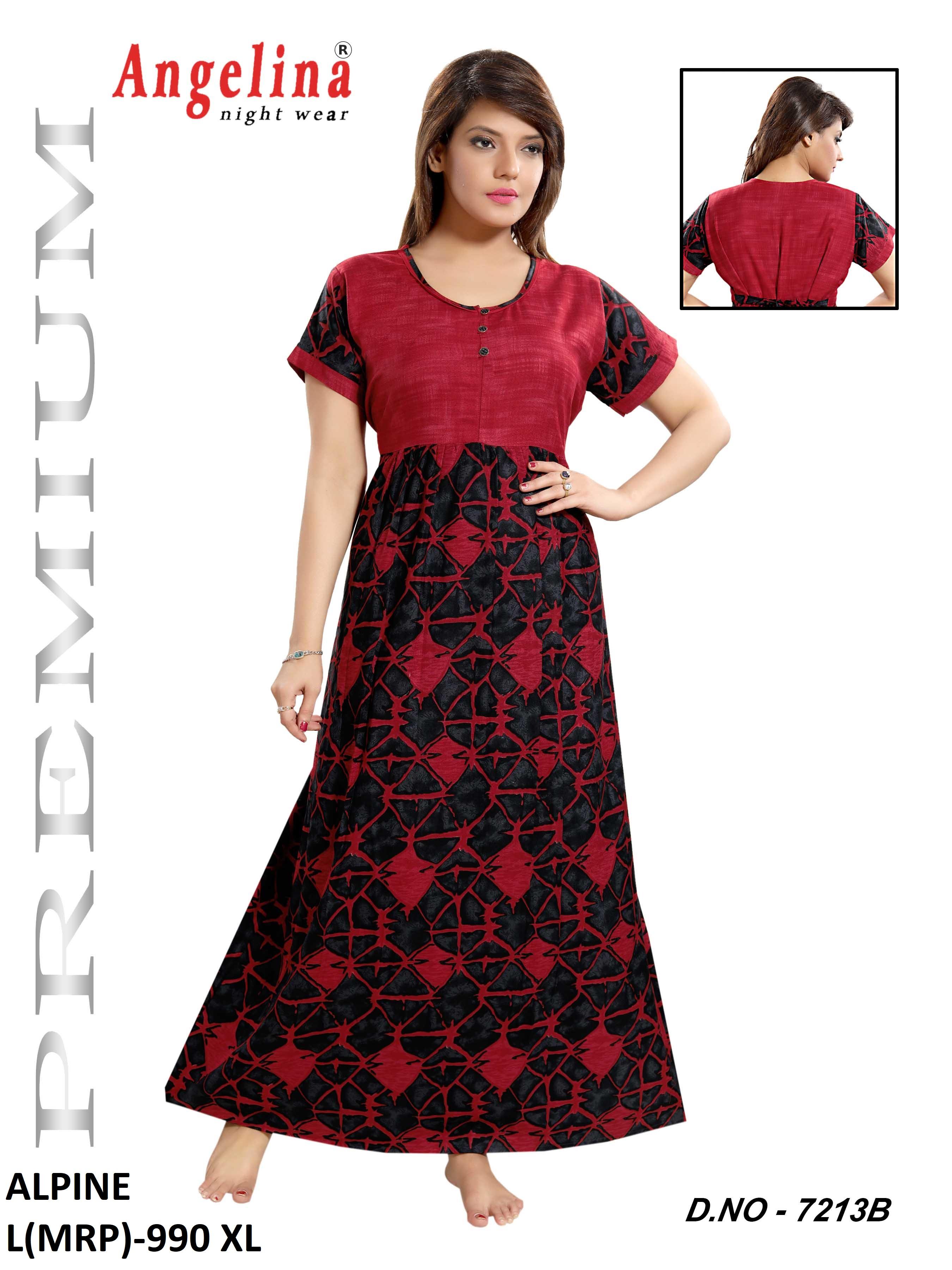 c6edc1667b Ladies Hosiery Night Suit Gown   Angelina Lifestyle - Brand of ...